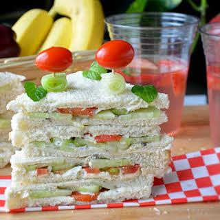 Tomato cucumber Veggie Sandwich.