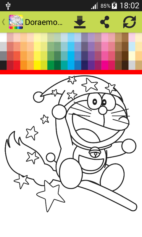 Coloring Book Dorae Cat Screenshot