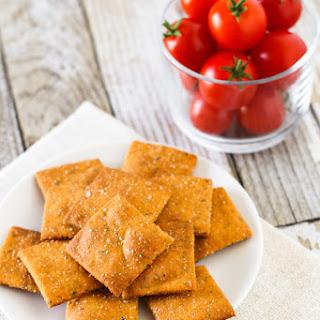 Gluten Free Vegan Pizza Crackers