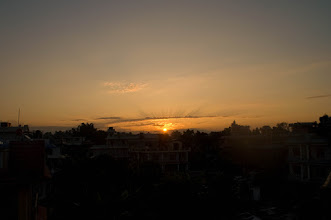 Photo: Sunrise from Pokhara