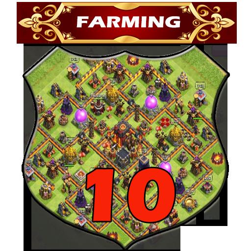 Town Hall 10 Farming Base Layouts