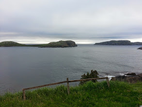 Photo: Whale Watchers B&B.  This was a welcome place to stop the day before as it was a steady downpour and 10C.