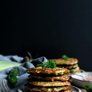 Courgette and Corn Fritters with Spicy Dip Recipe