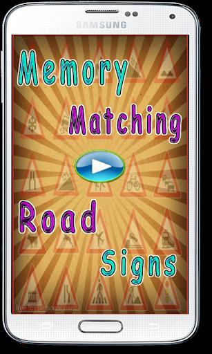 Memory Matching Road Signs