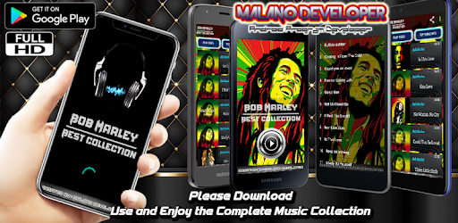 """Bob Marley Music Video Offline"" is available free on mobile."