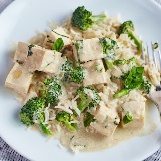 Tofu & Broccoli Green Curry.