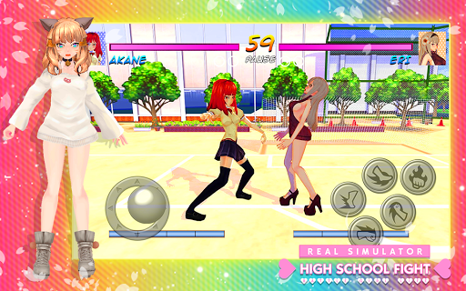 High School Girl Real Battle Simulator Fight Life painmod.com screenshots 7