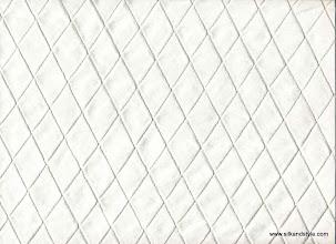 Photo: Pintuck Silk ~ Cream - 1 Inch Diamond
