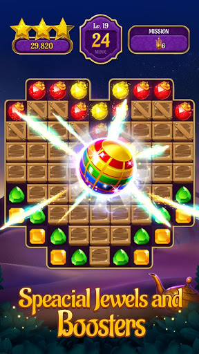 Jewels & Genies: Aladdin Quest - Match 3 Games screenshot 3