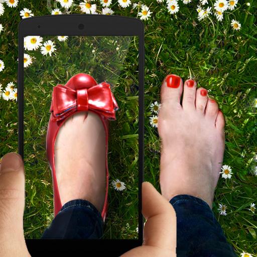 靴足の写真 模擬 LOGO-玩APPs