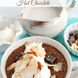"Frothy ""Almond Joy"" Hot Chocolate Recipe"