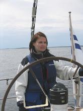 Photo: Katja ruorissa