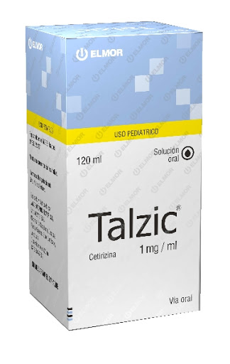 Cetirizina Talzic Solución Oral x 120 ml Elmor Solución Oral x 120 mL