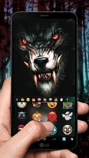 Scary Wolf Keyboard Theme - náhled