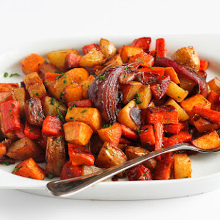 Tart Cherry Glazed Root Vegetables