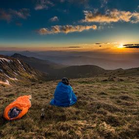 waiting for sunset by Laky Kucej - Landscapes Sunsets & Sunrises (  )