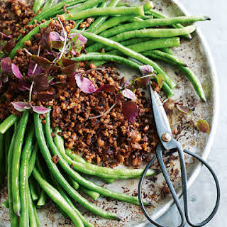Crispy Pork And Chilli Mince With Snake Beans.
