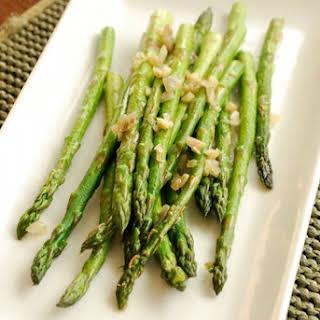 Sautéed Asparagus with Garlic and Shallots.