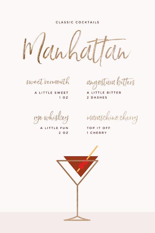 Classic Manhattan - Pinterest Pin Template