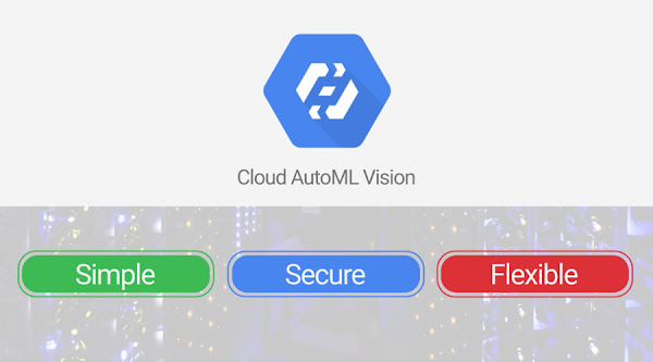 Screenshot from video: Cloud AutoML Vision, simple, secure, flexible