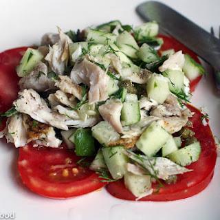Grouper, Cucumber, Tomato Salad