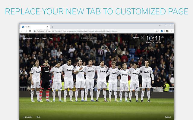 Real Madrid Wallpaper Hd Custom New Tab