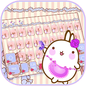 Floral Kitty Bunny Keyboard Theme for PC