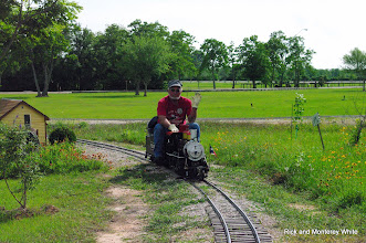 Photo: Ben Benda on Texas Grand Trunk 2-6-0 at Cabin Creek.  HALS - SWLS 2009-0523