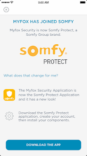 Myfox Security Application - náhled