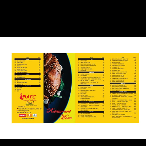 Awesome Fried Chicken menu 1