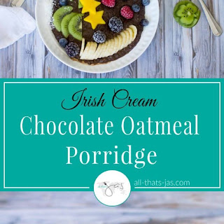 Irish Cream Chocolate Oatmeal Porridge.