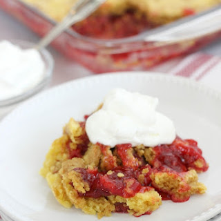 Strawberry Lemon Dump Cake.