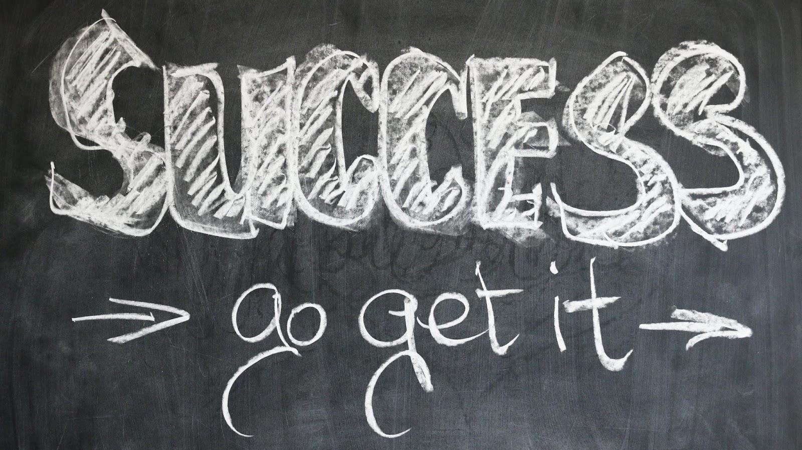 marketing-school-business-idea success boost written on a chalk board