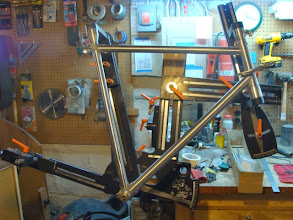Photo: Main triangle is mitered and fitted.