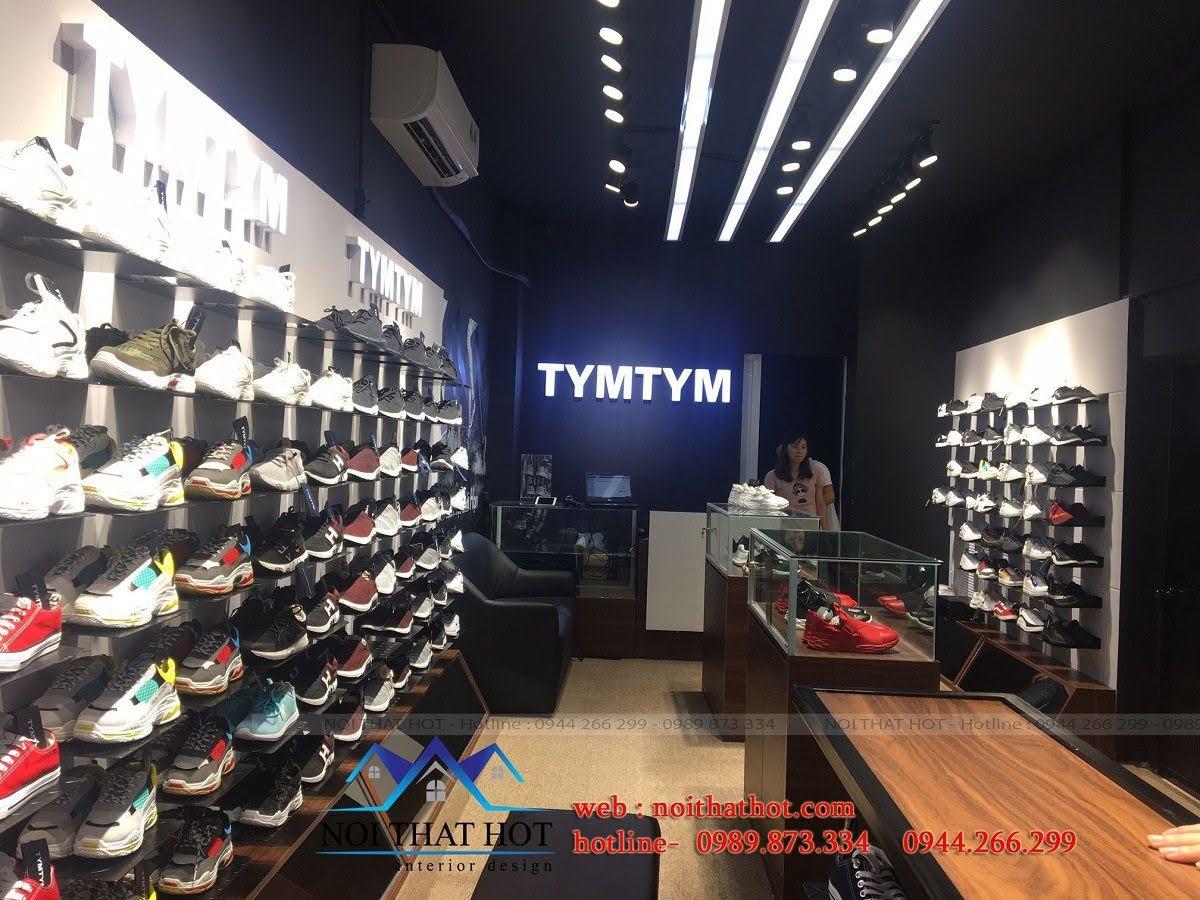 thi công shop giày nam 3