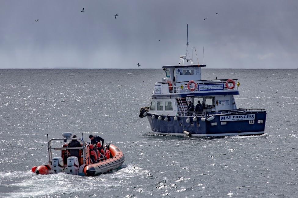 Szkocja, łodzie, speedboat, May Princess