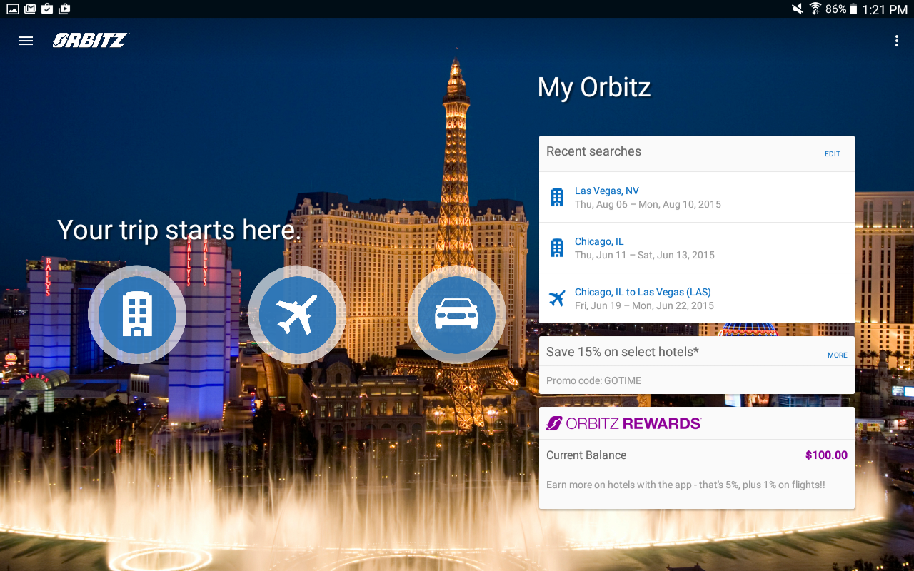 Orbitz - Flights, Hotels, Cars - screenshot