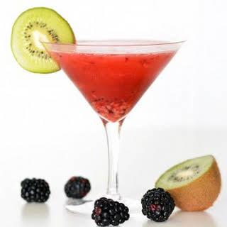 Kiwi and Blackberry Martini.