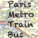 Paris Metro Bus Train icon