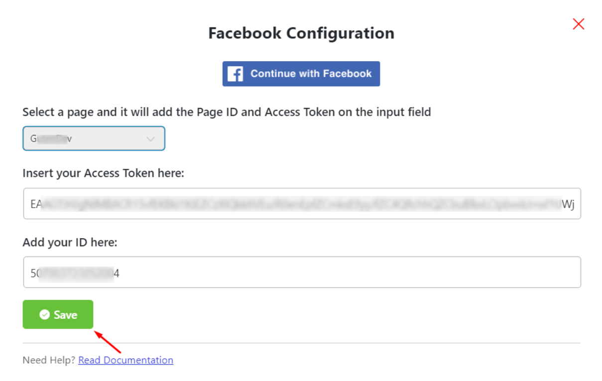 Facebook configuration social reviews