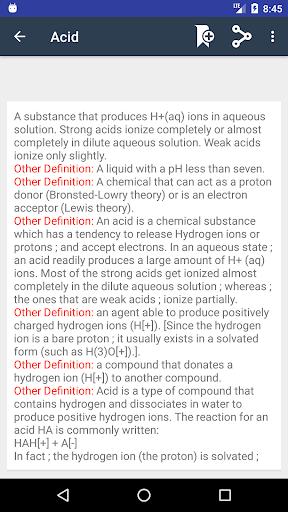 Screenshot 2 Chemistry Dictionary