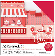 American Crafts Textured Cardstock Pack 12X12 60/Pkg - Valentines