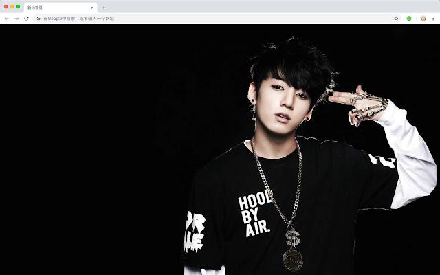 Jungkook New Tab Page HD Pop Stars Theme