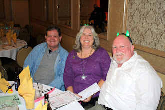 Photo: Dave Troop (with horns), wife and friend