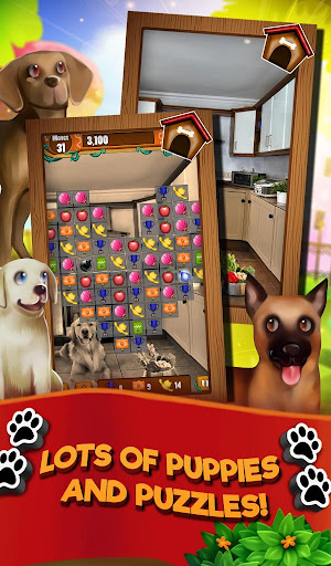 Match 3 Puppy Land - Matching Puzzle Game apkmr screenshots 6