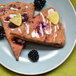 Healthy Blackberry Lime Scones with Lime Yogurt Glaze