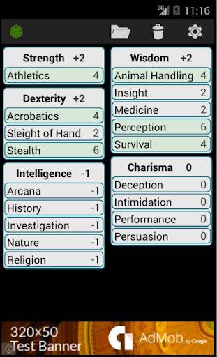 Fifth Edition Character Sheet  screenshots 2