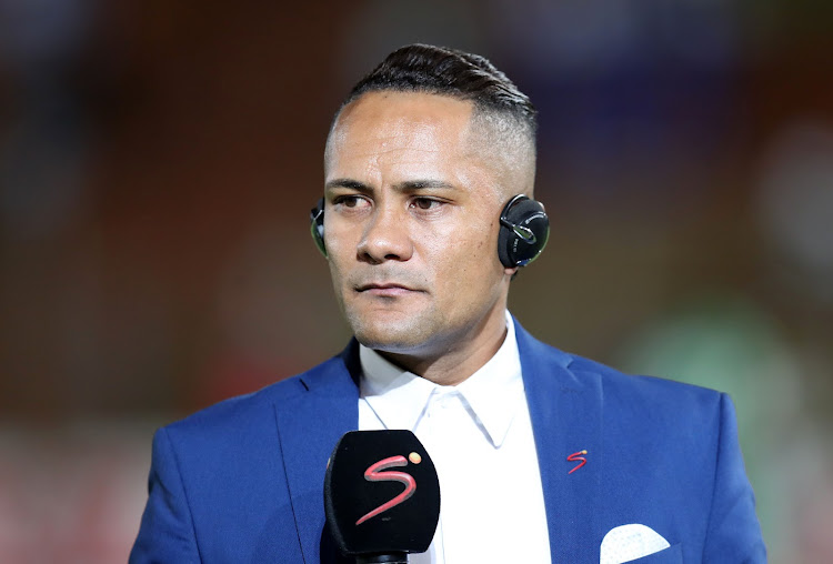 Former Kaizer Chiefs and Bafana Bafana star midfielder Stanton Fredericks during his match analysis for broadcaster SuperSport after the Absa Premiership match between Bidvest Wits and Bloemfontein Celtic at Bidvest Stadium, Johannesburg on January 9 2018.