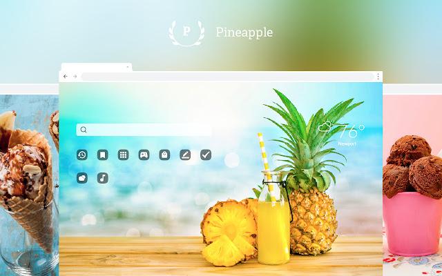 Pineapple HD Wallpapers New Tab Theme