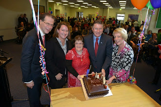Photo: Mary at the State NDIS launch with the Premier and Chair of Disability Care Board